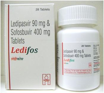 ledipasvir 90mg and sofosbuvir 400mg ( Generic )