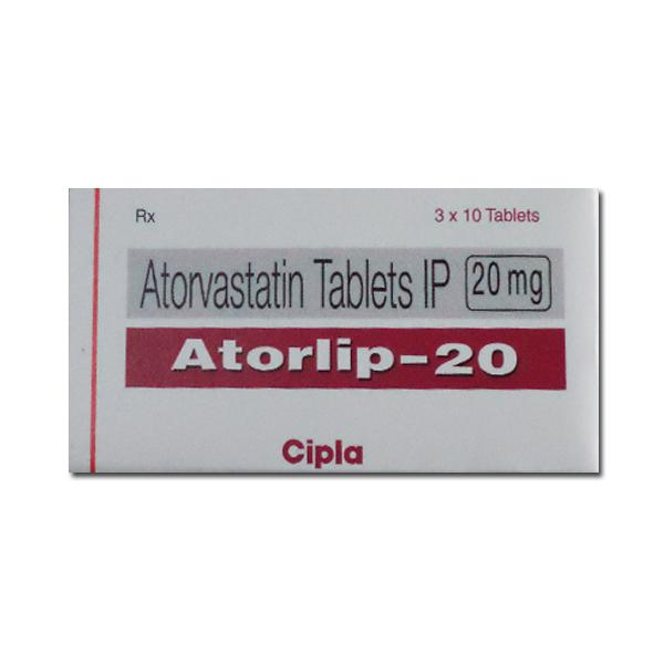 A box of generic Atorvastatin Calcium 20mg tablets