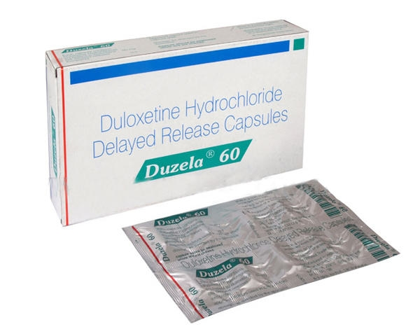 Blister pack and a box of generic Duloxetine Hcl 60mg capsule