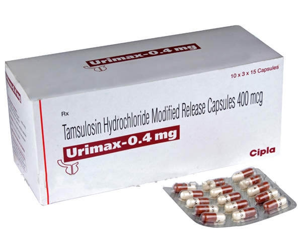 A strip and a box of generic Tamsulosin Hydrochloride 0.4mg capsule