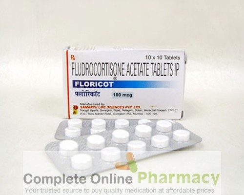 Florinef Acetate 0.1mg Tablets (Generic equivalent)