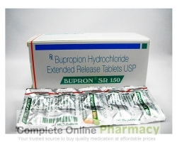 A box and a strip of generic Bupropion Hydrochloride Sustained-Release 150mg tablet