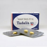 Two strips and a box of generic Tadalafil tablets 20mg
