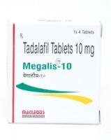A box of generic Tadalafil 10mg tablets