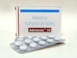 A box and a blister of generic Memantine HCl 10mg tablet