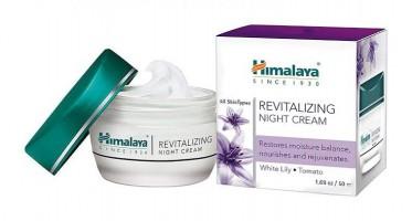 An open jar and box pack of Himalaya - Revitalizing Night 50 gm Cream
