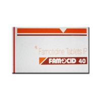 A box of Famotidine 40mg Tablet