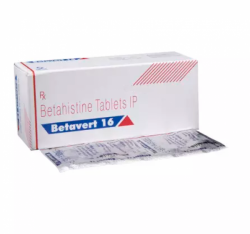 Blister strip and a box pack of generic Betahistine (16mg) Tablet