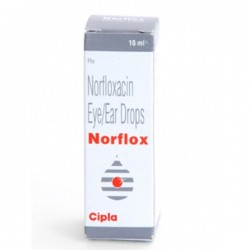 A box of generic Norfloxacin Eye Drop - 0.3 %