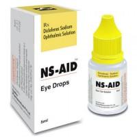 Eye drops bottle and a box of Diclofenac 0.1 %