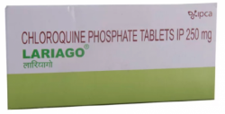 Box of generic Chloroquine (250mg) Tablet