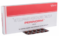 A box of generic Metoclopramide (10mg) Tablet