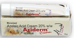 A Tube and a box of generic Azelaic Acid 20 % Cream
