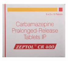 Tegretol XR 400 mg Tablet (Generic Equivalent)