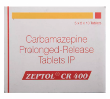 Box of generic Carbamazepine 400mg Tablet