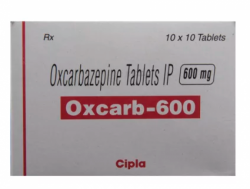 Box of generic Oxcarbazepine 600mg Tablet