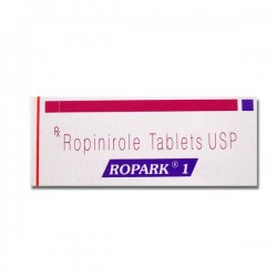 Box of generic Ropinirole 1mg Tablet
