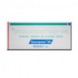 Box of generic Levodopa (50mg) + Carbidopa (12.5mg) + Entacapone (200mg) Tablet
