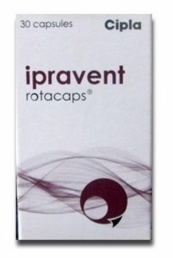 Box of Ipratropium 40mcg Rotacaps
