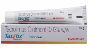 Tube and a box of generic Tacrolimus 0.03% Ointment