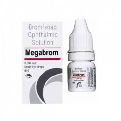 Box and bottle of generic Bromfenac 0.09 %  Eye Drops