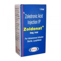 box of generic Zoledronic Acid 4mg Injection