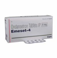 A box of generic Ondansetron 4mg Tablet