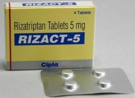 Box and blister strip of generic Rizatriptan 5 mg Tablet