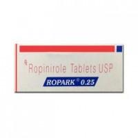 Box of generic Ropinirole 0.25 mg Tablet
