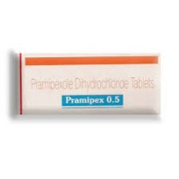 Box of generic Pramipexole 0.5mg Tablet