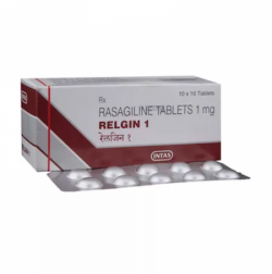 Box and blister of generic Rasagiline 1 mg Tablet