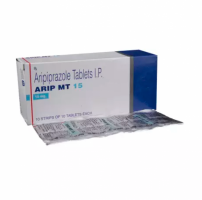 Box and blister strip of generic Aripiprazole 15mg tablet