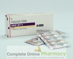 box and blister strips of generic Aripiprazole 5mg tablet