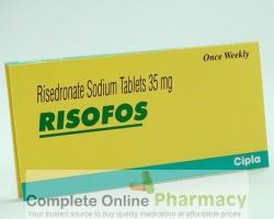 Box of generic Risedronate Sodium 35mg tablets