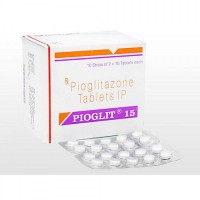 Box and blister strip of generic Pioglitazone Hydrochloride 15mg tablets