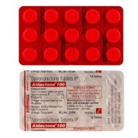 Blister strips of generic Spironolactone100mg Tablets