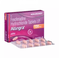 Box and blister strips of generic Fexofenadine Hcl 120mg tablets