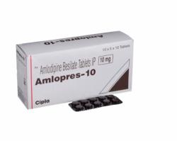 Box of Amlodipine Besylate 10mg tablets