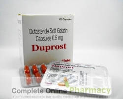 Two strips and a box of generic Dutasteride 0.5mg capsule