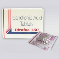 Box and generic blister strips of Ibandronate Sodium 150mg Tablet