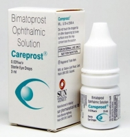 A box and a eye drops bottle of careprost 0.03 % eye drops of 3ml