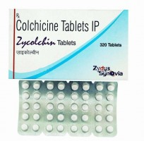 Box and Blister strips of generic Colchicine 0.5 mg Tablets