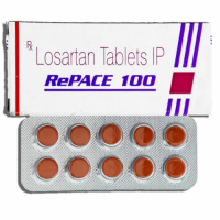 Box and blister strip of generic Losartan Potassium 100mg tablets