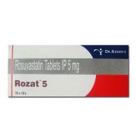 Box of generic Rosuvastatin Calcium 5mg tablets