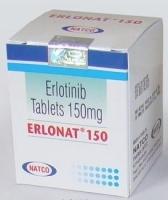 A box of generic Erlotinib 150mg tablets