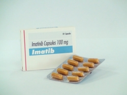 A box and a blister of Imatinib Mesylate 100mg Tablets