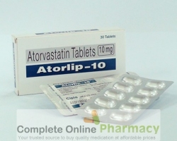 Two strips and a box of Atorvastatin Calcium 10mg tablets