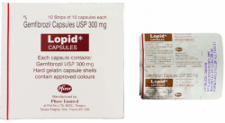 Lopid 300mg Capsule (International Brand Version)