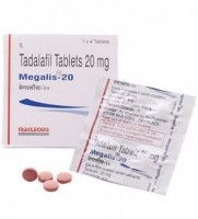 Box and blister strips of generic Tadalafil 20mg tablets