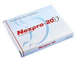 A box of generic Esomeprazole Magnesium 20mg tablets